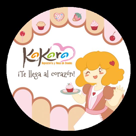 Kokoro - Tarjeta circular frente